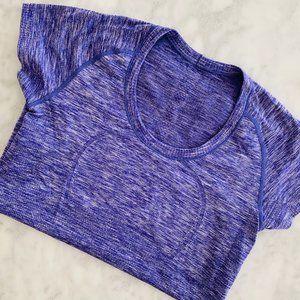 Lululemon Swiftly Short Sleeve Top Purple 8 Scoop